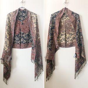 Accessorize paisley shawl scarf